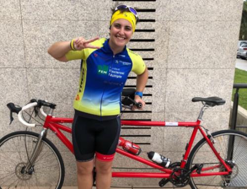 Una joven con esclerosis múltiple hará el Camino de Santiago en tándem para recaudar fondos